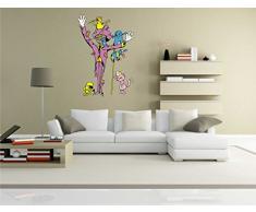 INDIGOS KAR-Wall-clm013-58 Wandtattoo fürs Kinderzimmer clm013 - Lustige kleine Monster - Mad Zauberer - Wandaufkleber 58 x 83 cm