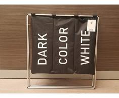 Inspired Living Wäscheständer, Aluminium-Rahmen, 600D, Schwarz