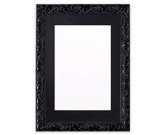 Memory Box Instagram Kissen, quadratisch, mit bruchsicherer Styrolplatte, 26 mm breit und 23 mm tief, schwarzer Rahmen mit schwarzem Passepartout, 43,2 x 43,2 cm, für 38,1 x 38,1 cm