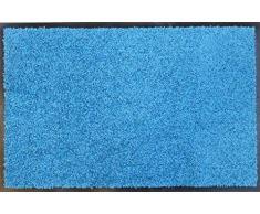 oKu-Tex Fußmatte   Schmutzfangmatte   Eco-Clean  Türkis   Recycling-Gummi   für innen   Eingangsbereich / Haustür / Treppenhaus / Flur   rutschfest   40x60 cm