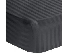 Mega Collation Bedding Spannbetttuch für Doppelbett, elastisch, aus ägyptischer Baumwolle, 600 TC 1-Piece Fitted Sheet { Twin } Grau (Elephant Grey)