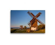 Premium Textil-Leinwand 45 x 30 cm Quer-Format Alte Windmühle in Melsted auf Bornholm   Wandbild, HD-Bild auf Keilrahmen, Fertigbild auf hochwertigem Vlies, Leinwanddruck von Christian Müringer