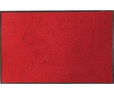 oKu-Tex Fußmatte   Schmutzfangmatte   Eco-Clean  Rot   Recycling-Gummi   für innen   Eingangsbereich / Haustür / Treppenhaus / Flur   rutschfest   60x90 cm