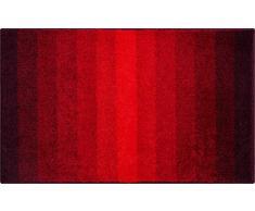 Grund Badteppich 100% Polyacryl, ultra soft, rutschfest, ÖKO-TEX-zertifiziert, 5 Jahre Garantie, RIALTO, Badematte 70x120 cm, rubin