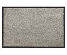 Hamat Teppich für Eingangsbereich Candy aus Polypropylen, für den Innenbereich, Grau, 60 x 90 cm
