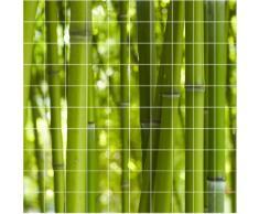 Graz Design 765132_15x15_150_V Fliesen-aufkleber/Deko für Bad Küche, Bad Bambus, 15 x 15 cm, Anzahl Fliesen 10 breit und 10 hoch, grün