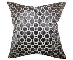 The Pillow Collection Kissenbezug Kostya, geometrisch, Überwurf 18 x 18 schwarz
