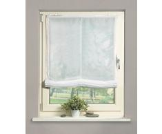 Home Fashion 69941-101 Raffrollo Voile, 140 x 60 cm, weiß