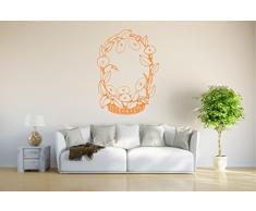 INDIGOS Wandtattoo/Wandsticker-d57 schöner Korb mit Tulpen 80x58 cm- orange, Vinyl, 80 x 58 x 1 cm
