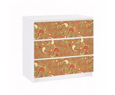 Apalis 91726 Möbelfolie für Ikea Malm Kommode Paisley Musterdesign, größe 3 mal, 20 x 80 cm