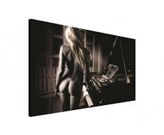 BILD WANDBILD BILDER WANDBILDER CANVAS- SEXY LADY AM PIANO 197 O1