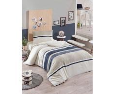 EnLora Home Bettdecke, Einzelbett, Anthracite Cream, 155 x 220 cm, 2 Einheiten