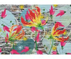 AG Design FTxxl 0320 Flora futura, Papier Fototapete - 360x255 cm - 4 teile, Papier, multicolor, 0,1 x 360 x 255 cm