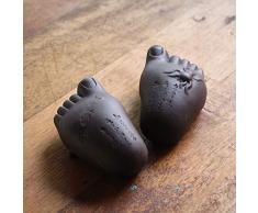 TEASOUL Keramische Buddhas Füße sind EIN Werkzeug benutzt, während die Tee-Zeremonien, als Ornament auf dem Tisch oder auf dem Tablett mit einem klaren Symbolik Zeigen, None