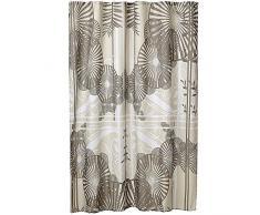 MSV 140803Duschvorhang Polyester + Kunststoff Polypropylen Sonnenschirm Braun 180x 200x 0,1cm–12Ringen