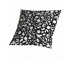 Sabanalia Buchstaben – Makeup für Tagesdecke 50 x 50 Schwarz