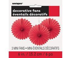 Unique Industries 63255 Decoration Party-Deko, Papier, rot
