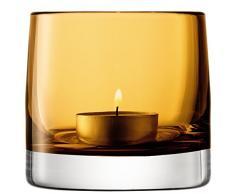 LSA International Teelichthalter, 8,5 cm, Bernsteinfarben