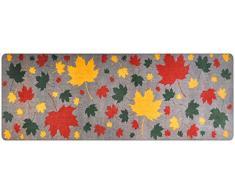 DECO-MAT Rutschfester Teppich-Läufer ohne Rand für den Innenbereich oder Eingangsbereich, 80 x 200 cm, grau