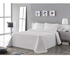 VIALMAN Tagesdecke, Weiß, für 105 cm breites Bett: 200 cm x 260 cm.