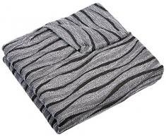 Zebra Textil Sofa, Grau, Relax