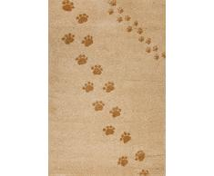 Art for Kids Qualität Label Öko-Tex Standard 100 Spuren Kinder Teppich, 100 Prozent Polypropylen, Beige, 135 x 190 cm