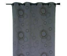 HomeMaison HM69851178 Vorhang, 100 % blickdicht, bedruckt, Kreise, Grau