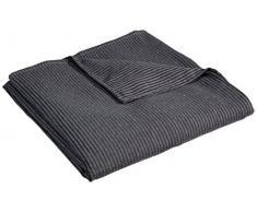 Zebra Textil 38889 Sofaüberwürf Versubio 2-Sitzer, Grau