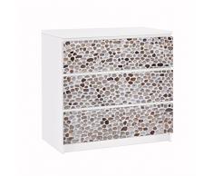Apalis 91592 Möbelfolie für Ikea Malm Kommode Andalusische Steinmauer, größe 3 mal, 20 x 80 cm