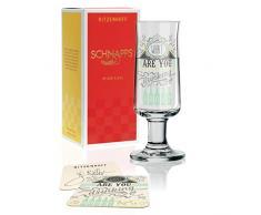 RITZENHOFF Schnapps Schnapsglas von Frank Keller, aus Kristallglas, 40 ml, mit fünf Schnapsdeckeln