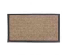 JVL Fußmatte aus Teppich und Gummi Home Office, Eltern beige