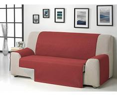 Martina Home Sofabezug, Durchmesser 2 Plätze Rot/Grau