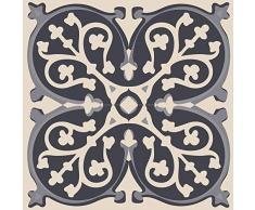 Plage 3D-Klebedekoration Cemento [4 Fliesen gewölbt], grau, 15x15cm