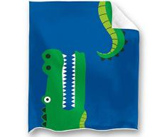 Loong Design No Drama Llama Überwurf, super weich, flauschig, Premium-Sherpa-Fleece-Decke, 127 x 152 cm, passend für Sofa, Stuhl, Bett, Büro, Reisen, Camping, Geschenk 50x 60 krokodil