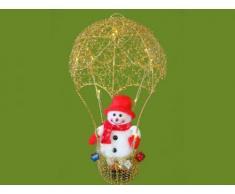 Weihnachtsbeleuchtung Fallschirm mit Schneemann, gold