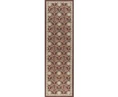 Universal Teppiche Leola Floral Transitional Läufer Accent Bereich Teppich, braun, 229 x 69 cm