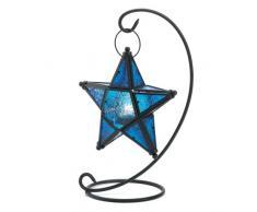 Gifts & Decor blau Sapphire Star Tischplatte Kerzenhalter Laterne Decor