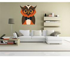 Indigos KAR-Wall-clm037-58 Wandtattoo fürs Kinderzimmer clm037 - Lustige kleine Monster - Eule - Wandaufkleber 58 x 70 cm
