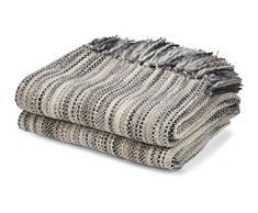 Plaid Sunil 130x180 cm Sand - Tagesdecke Sofa überwurf Decke Decken Bettüberwurf