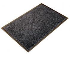 Doortex Schmutzfangmatte   Fußmatte ultimat   120 x 180 cm   aus Mikrofaser   Polypropylen   Vinyl   grau   rechteckig   für den Innenbereich