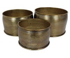 Blumentopf 3er Set Metall - Braun