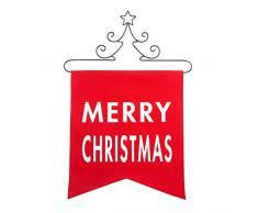 Pavillon Gift Company Banner mit Weihnachtsbaumaufhänger aus Metall, 35,6 x 40,6 cm, Rot