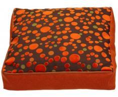 Sauermilch 1303606015039 Curl Bodenkissen eckig, 60 x 60 x 15 cm, orange