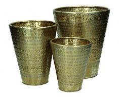 Blumentopf 3er Set Metall - gold
