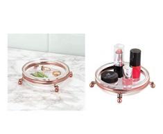 iDesign 65459EU York Lyra Seifenschale fürs Badezimmer Waschtisch, Küchenspüle, 11,4 x 0,254 x 3,6 cm, rotgoldfarben/durchsichtig, stahl