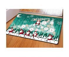 Buybai Cool 3D Weihnachts-Bedruckte Fußmatten Fußmatten für drinnen und draußen, Schlafzimmer, Küche, Teppich One_Size Merry Christmas -22