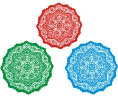 Indigos 4051719845280 Wandtattoo ME211 Ornament Kreise Pflanze Teppich Tribal 40 x 31 cm