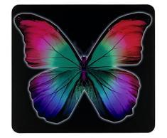 WENKO 2712974500 Multi-Platte Butterfly by Night, für Glaskeramik Kochfelder, Gehärtetes Glas, 56 x 0.5 x 50 cm, Mehrfarbig
