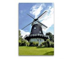 Calvendo Leinwand Achimer Windmühle 60x90cm, Special-Edition Wandbild, Bild auf Keilrahmen, Fertigbild auf hochwertigem Textil, Leinwanddruck, kein Poster