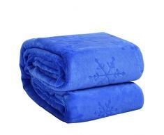 Eternal Moment Fleecedecke, superweiche Flanelldecke, Bettdecke, warme Plüschdecke für Bett, Couch, Reisen King königsblau